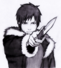 Izaya Orihara, Durarara!!, Switchblade, Sketch, Fur Coat