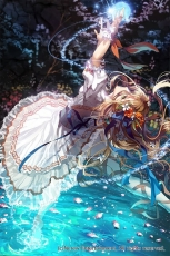 Falling, Flowers, Girl, Blue Ribbon, Water, Moon, Reach To The Sky, Lights, Dance, Ballet