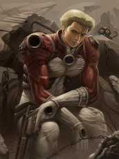 Knives, Warriors, Blonde Hair, Blue Eyes, Trigun