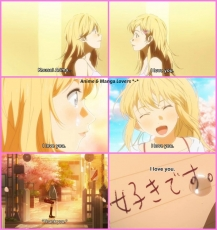 Your Lie in April, Love