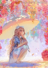 Umbrella, White Bow, Alice in Wonderland