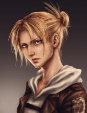 Shingeki no Kyojin, Annie Leonhardt, Blue Eyes, Military, Blonde Hair, Realist