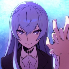 Kiznaiver, Cute, Sad, Girl, Blue Hair