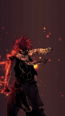 Fairy Tail, Natsu Dragneel, Fears, Wallpaper, Dragon